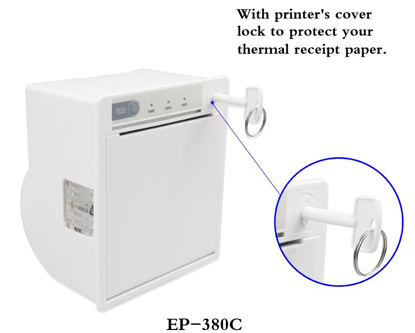80mm thermal panel printers for kiosk